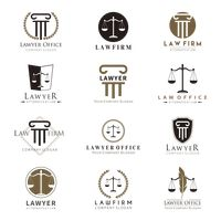 Collection of law logo elements
