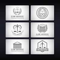 Collection of law office name cards