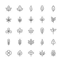 Collection of leaf icon
