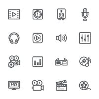 Collection of media icon