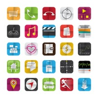 Collection of mobile user interface icons