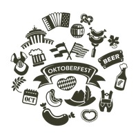 Collection of oktoberfest icons
