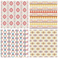 Collection of seamless tribal pattern