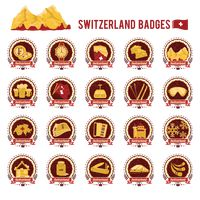 Collection of switzerland badges