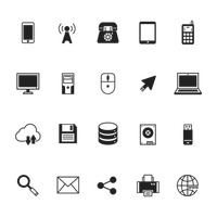 Popular : Collection of technology icons