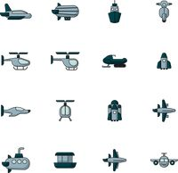 Collection of transportation icon