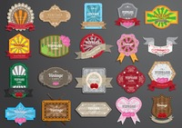 Popular : Collection of vintage label