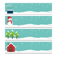 Popular : Collection of winter banners