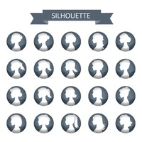 Collection of woman silhouette