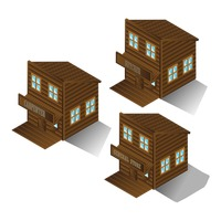 Collection of wooden buildings
