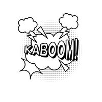 Popular : Comic bubble effect kaboom