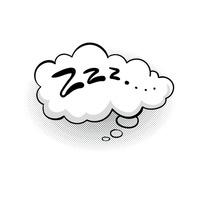 Zzzz Sleep Nap Sleeping Napping Comic Comics Bubble ...