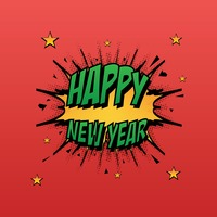 Popular : Comic style happy new year