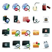 Computer technology icon collection