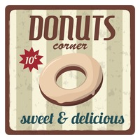 Donuts corner sticker