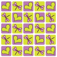 Popular : Dragonfly and heart shaped tiled pattern