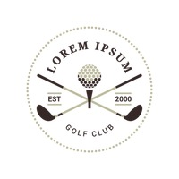 Emblem of golf club
