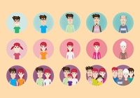 Family character icons