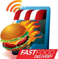 Fast food delivery concept