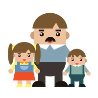 Popular : Father and children