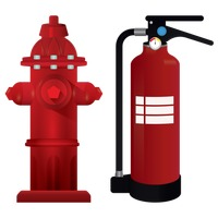Fire hydrant and fire extinguisher