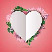Popular : Floral card with heart