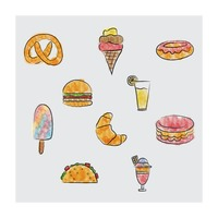 Popular : Food and beverage icons set