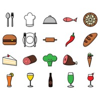 Popular : Food and drink set