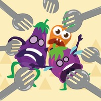 Forks attack on brinjals and carrot