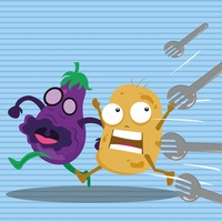 Forks attacking brinjal and potato