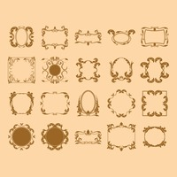 Frame icon set