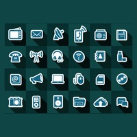 Gadgets and technology icons