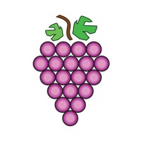 Popular : Grapes isolated over white background