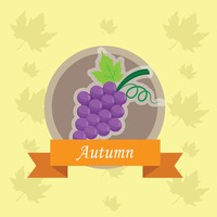 Popular : Grapes label
