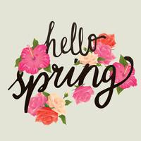 Beau Hello Spring Card Design