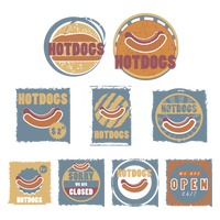 Hotdogs store sign collection