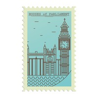 Houses of parliament postage stamp