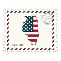 Illinois postage stamp