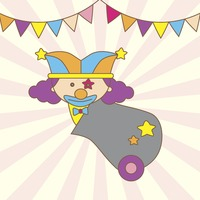 Illustration of a cartoon clown in a cannon