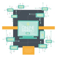 Infographic of online banking