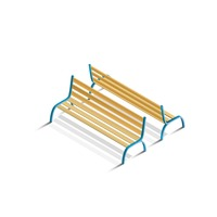 Isometric park benches