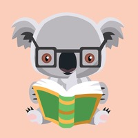 Koala bear reading a book