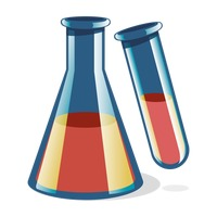 Laboratory flask and test tube