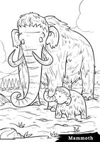 Mammoth with calf