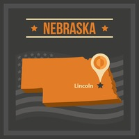 Map of nebraska state