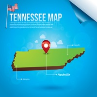 Map of tennessee state
