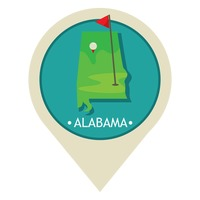 Map pointer with alabama state