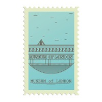Museum of london postage stamp