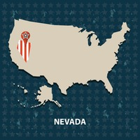 Nevada state on the map of usa