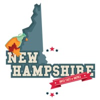 New hampshire map with maple syrup